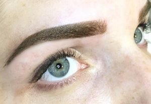 Tracie Giles eyebrow tattoo London