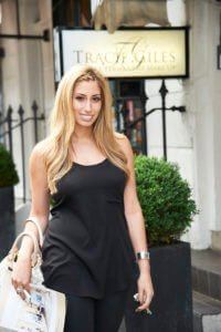 Copyright TATIANA HAIR EXTENSIONS. Stacey Solomon visits Tracie Giles Permanent Makeup 24 Beauchamp Place Knightsbridge London 21/6/12 Photographer Stewart Williams for further details contact Lucy Dartford Public Relations 020 3370 4910
