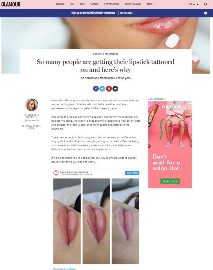 Glamour Permanent Lipstick