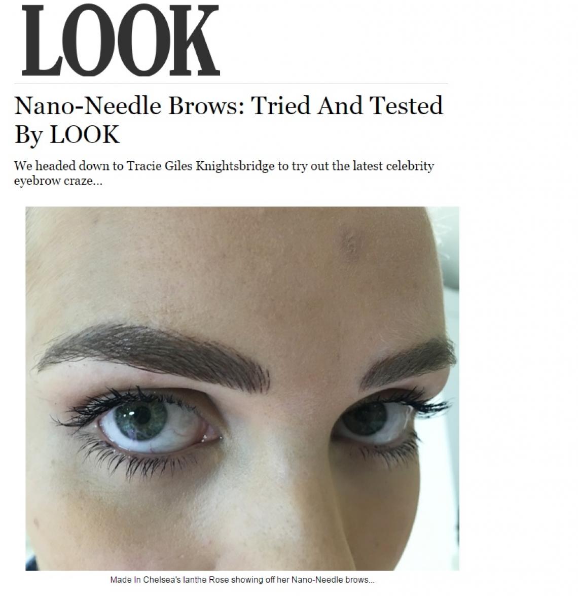 Look Magazine Brow Tattoo