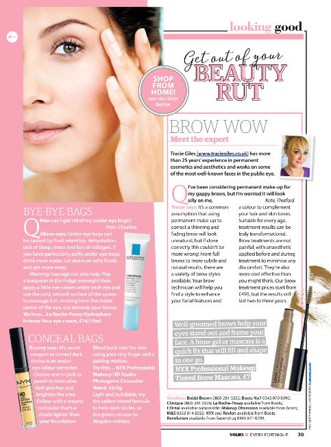 Yours Magazine Brow Expert