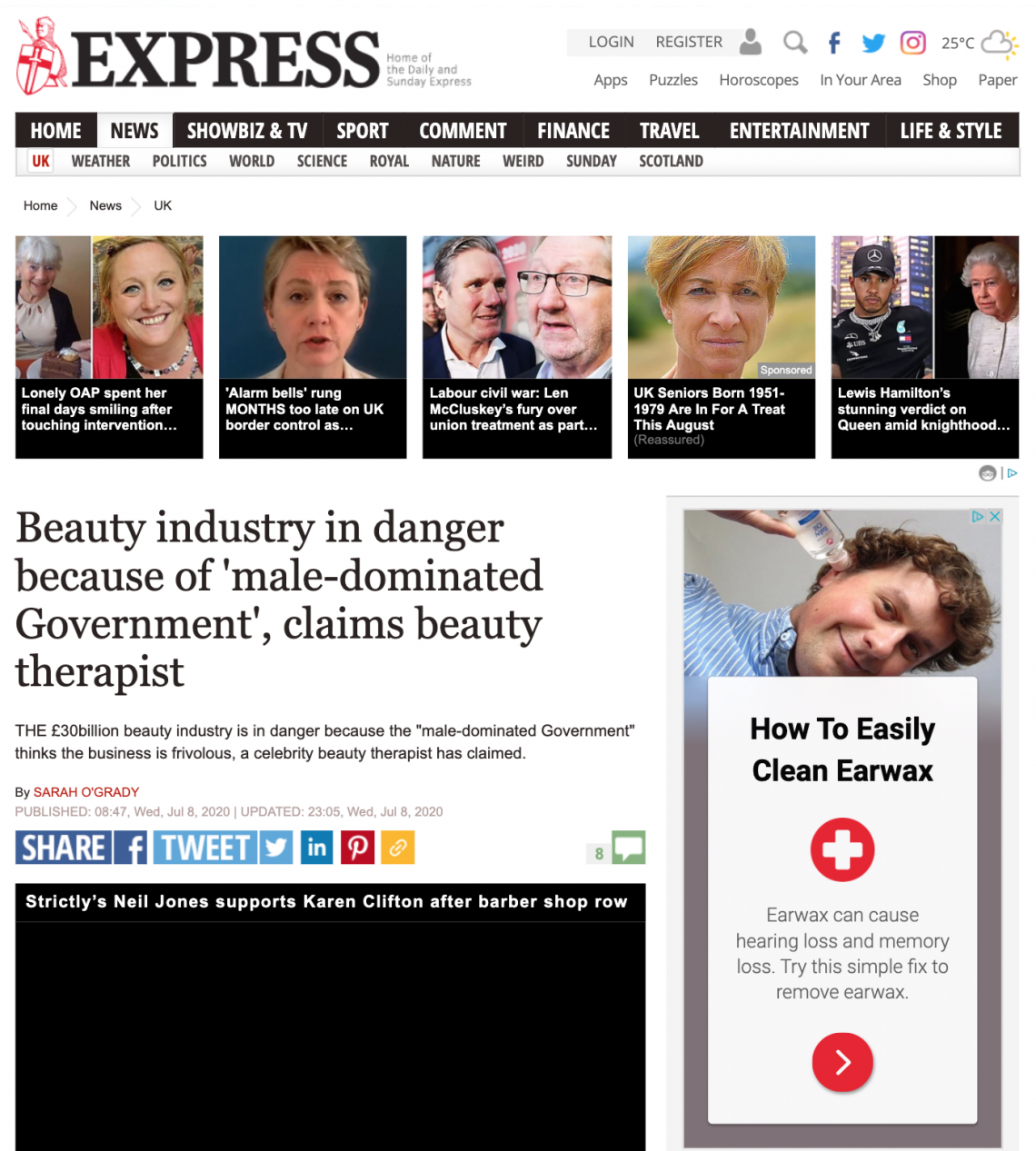 Daily Express Beauty Industry COVID-19
