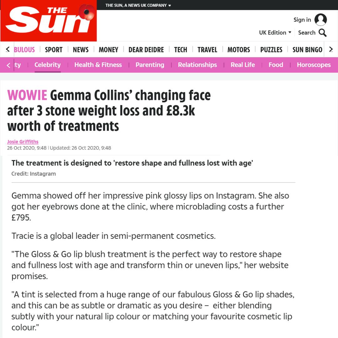The Sun Gemma Collins Weight Loss