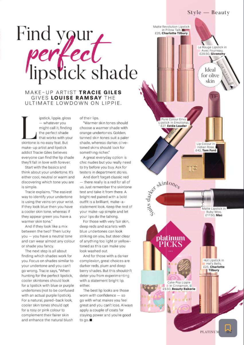 Platinum Magazine Lipstick Shades